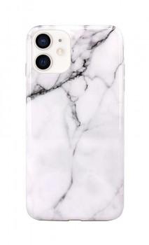 Zadní silikonový kryt na iPhone 12 mini Mramor bílý