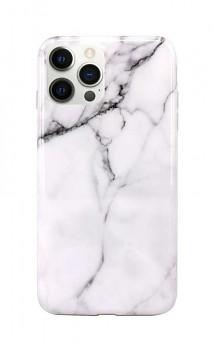 Zadní silikonový kryt na iPhone 12 Pro Mramor bílý