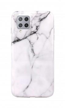 Zadní silikonový kryt na Samsung A42 Mramor bílý