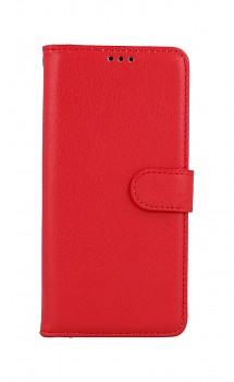 Knížkové pouzdro na Samsung A52 červené s přezkou