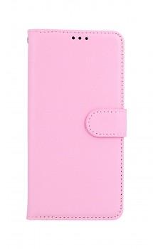 Knížkové pouzdro na Samsung A52 růžové s přezkou