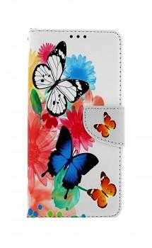 Knížkové pouzdro na Xiaomi Redmi 9T Barevné s motýlky