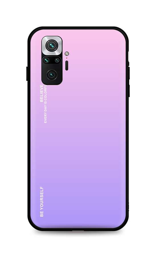 Zadní pevný kryt LUXURY na Xiaomi Redmi Note 10 Pro duhový růžový