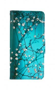 Knížkové pouzdro na Xiaomi Redmi Note 10 Pro Modré s květy