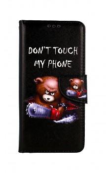 Knížkové pouzdro na Xiaomi Redmi Note 10 Pro Don´t Touch méďa