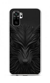 Zadní silikonový kryt na Xiaomi Redmi Note 10 Černý vlk