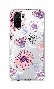 Zadní silikonový kryt na Xiaomi Redmi Note 10 Flowers