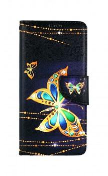 Knížkové pouzdro na Xiaomi Redmi Note 10 Pro Zlatý motýl