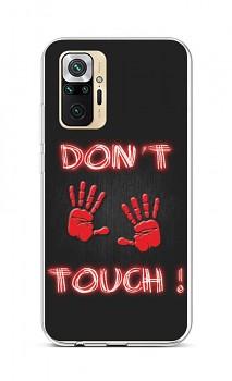 Zadní silikonový kryt na Xiaomi Redmi Note 10 Pro Don't Touch Red