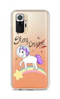 Zadní silikonový kryt na Xiaomi Redmi Note 10 Pro Stay Unicorn
