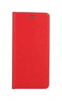 Knížkové pouzdro Luna Book na Samsung A32 červeno-stříbrné