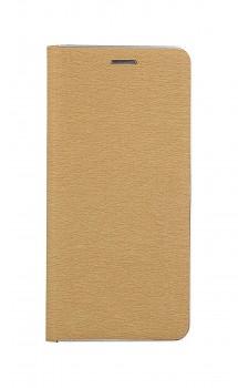 Knížkové pouzdro Luna Book na Samsung A32 zlato-stříbrné