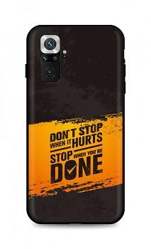 Zadní silikonový kryt DARK na Xiaomi Redmi Note 10 Pro Don't Stop