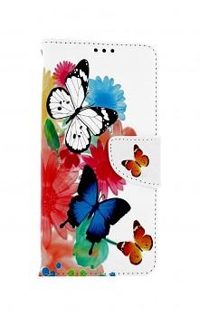 Knížkové pouzdro na Xiaomi Redmi Note 10 Barevné s motýlky