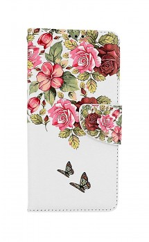 Knížkové pouzdro na Xiaomi Redmi Note 10 Něžné květy