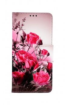 Knížkové pouzdro na Xiaomi Redmi Note 10 Romantické růže