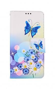 Knížkové pouzdro na Xiaomi Poco X3 Bílé s motýlkem