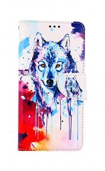 Knížkové pouzdro na Xiaomi Poco X3 Kresba vlka