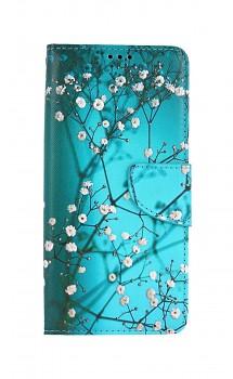 Knížkové pouzdro na Xiaomi Poco M3 Modré s květy