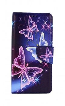 Knížkové pouzdro na Xiaomi Poco M3 Modré s motýlky