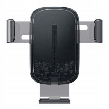 Držák na mobil s funkcí bezdrátového nabíjení Baseus Explore černý