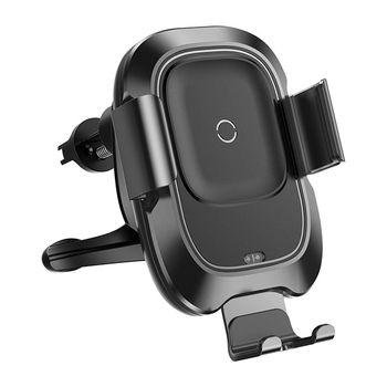 Držák na mobil s funkcí bezdrátového nabíjení Baseus Smart černý