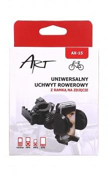 Držák na mobil na kolo Art AX-15 černý