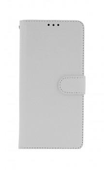 Knížkové pouzdro na Xiaomi Redmi Note 10 Pro bílé s přezkou