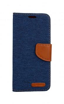 Knížkové pouzdro Canvas na Samsung A20e modré tmavé