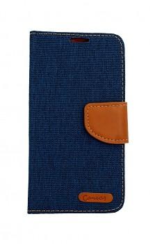 Knížkové pouzdro Canvas na Samsung A40 modré tmavé