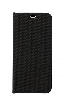 Knížkové pouzdro Luna Carbon Book na Xiaomi Redmi Note 10 černé