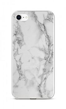 Zadní silikonový kryt STYLE na iPhone SE 2020 Mramor bílý