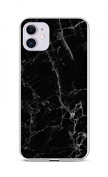 Zadní silikonový kryt STYLE na iPhone 11 Mramor černý