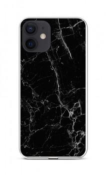 Zadní silikonový kryt STYLE na iPhone 12 Mramor černý