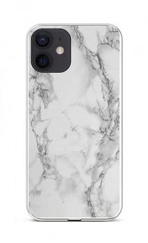 Zadní silikonový kryt STYLE na iPhone 12 Mramor bílý