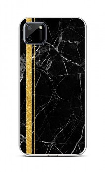 Zadní silikonový kryt STYLE na Realme C11 Mramor černo-zlatý