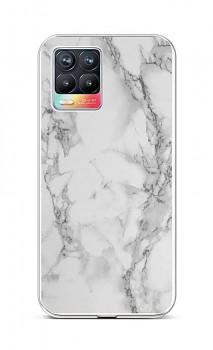 Zadní silikonový kryt STYLE na Realme 8 Mramor bílý