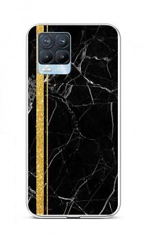 Zadní silikonový kryt STYLE na Realme 8 Pro Mramor černo-zlatý