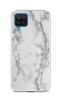 Zadní silikonový kryt STYLE na Samsung A12 Mramor bílý