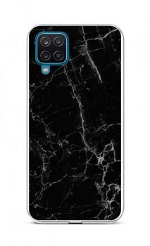 Zadní silikonový kryt STYLE na Samsung A12 Mramor černý