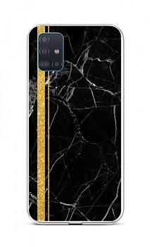Zadní silikonový kryt STYLE na Samsung A51 Mramor černo-zlatý