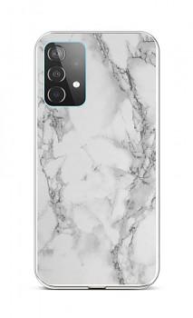 Zadní silikonový kryt STYLE na Samsung A52 Mramor bílý