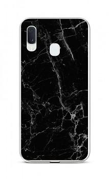 Zadní silikonový kryt STYLE na Samsung A20e Mramor černý