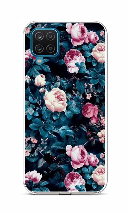 Zadní silikonový kryt na Samsung A12 Růžičky
