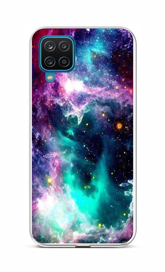 Zadní silikonový kryt na Samsung A12 Vesmír