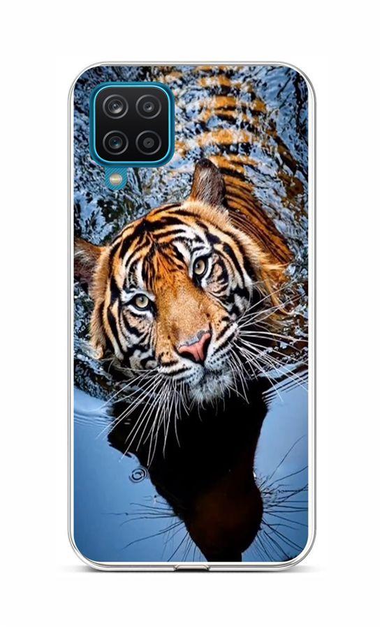 Zadní silikonový kryt na Samsung A12 Tygr