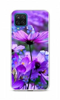 Zadní silikonový kryt na Samsung A12 Rozkvetlé květy
