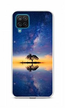 Zadní silikonový kryt na Samsung A12 Noční obloha