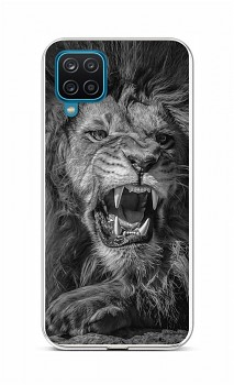 Zadní silikonový kryt na Samsung A12 Černobílý lev