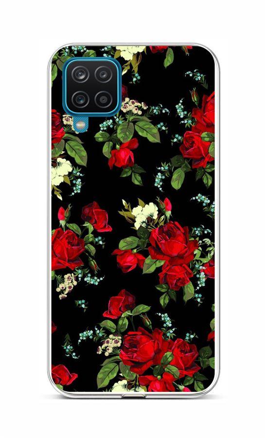Zadní silikonový kryt na Samsung A12 Květy růží